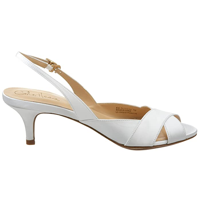 115707a2f18 Amazon.com: Cole Haan Women's Ceci Air Low Sling Sandal,White Satin,8.5 B  US: Shoes