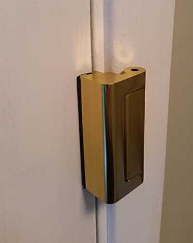 Viper Door Lock Brass - 12 x stronger than a conventional dead bolt & Nightlock Security Lock Door Barricade Brushed Nickel by Nightlock ...