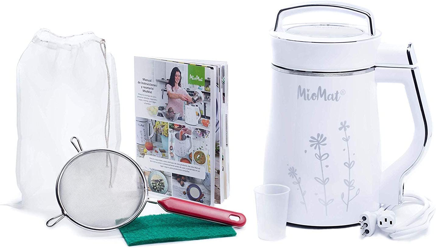MioMat - Multi-Functional Soy Milk, Nut Milk, Soup, Smoothie Maker Stainless Steel 5 in 1, the only with Nano-cutting technology, Soups - Baby Food Maker - Porridge - Smoothie - Vegetable Milk - Soy Milk - Nut Milk - Automatic Machine ready at a Push of a Button