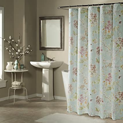European Style Polyester Shower Curtain Cloth Waterproof Padded Mildew Bathroom