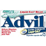 Advil Extra Strength Liqui-Gels (24 Count) 400 mg ibuprofen, Temporary Pain Reliever/Fever Reducer