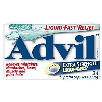 advil extra strength liqui gels 24 count 400 mg ibuprofen