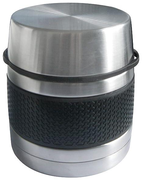 Bcalpe Termo Sólido, Acero Inoxidable, Negro y Plata, 15x13x13 cm