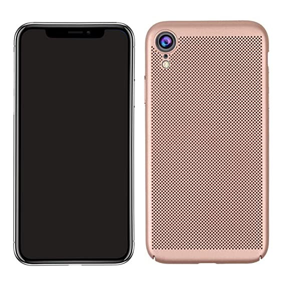 08ea9ec6d3 Case for iPhone XR, GUANHAO Non-Slip Hard PC Stomatal Design Heat  Dissipation Shockproof