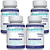 Lipozene Maximum Strength Dietary Supplement Fat Burner 4 Bottles 120 Capsules
