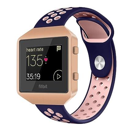 VODKER Fitbit Blaze Correa de Reloj Reloj Correas Reemplazo Transpirable Suave Silicona Bandas Correa para Fitbit