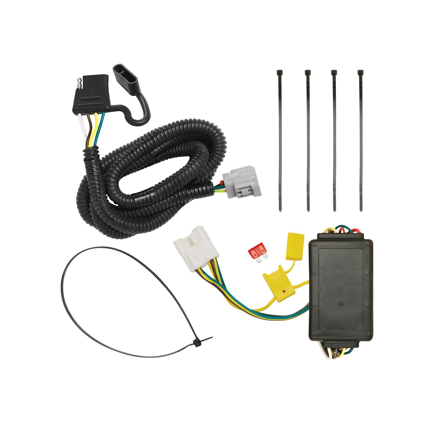 Amazon.com: Tekonsha 118255 4-Flat Tow Harness Wiring Package with Circuit  Protected ModuLite Module: Automotive