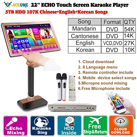 Amazon com: 5TB HDD 107K Chinese+English+Korean Songs 22