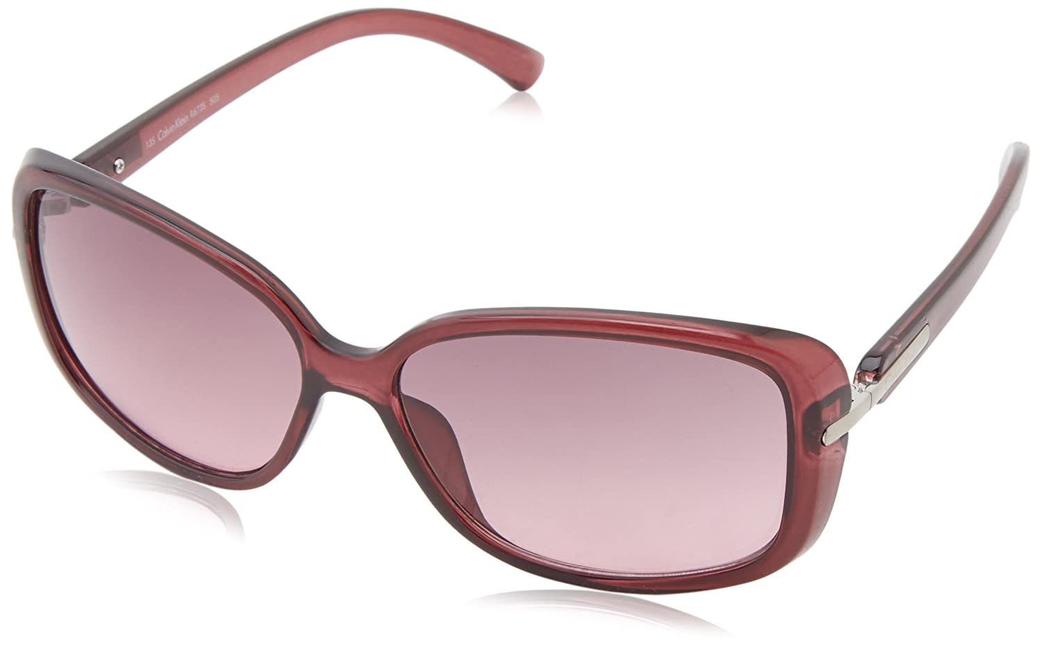 Calvin Klein Women's CWR673S-971 Rectangular Sunglasses Berry 16 mm Calvin Klein Sunglasses