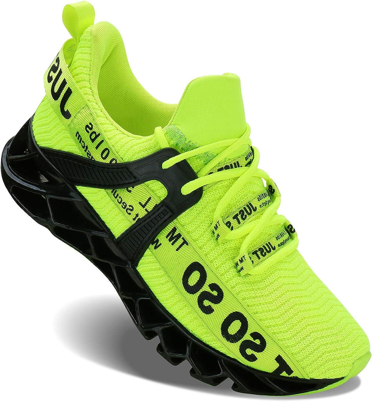 Acreat Herren Laufschuhe Fitness stra?enlaufschuhe Sneaker Sportschuhe atmungsaktiv rutschfeste Mode Freizeitschuhe