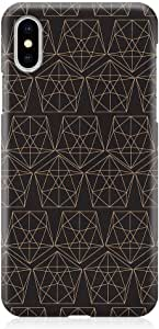 Loud Universe Phone Case Fits iPhone XS Wrap Around EdgesElegant Geometry Dark iPhone XS Cover
