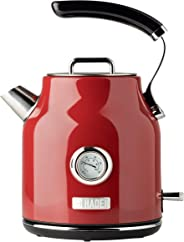 Haden DORSET 1.7 Litre Stainless Steel Electric Kettle with Auto Shut-Off and Boil-Dry Protection in Red