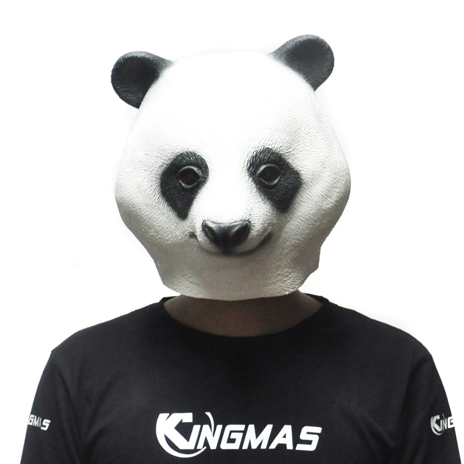 Amazon.com: KINGMAS Halloween Panda Head Mask - Party Animal Latex ...