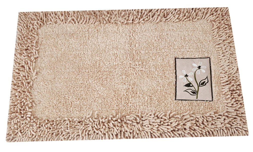 Multi-size Heavy Floral Embroidery Area Door Mat Floor Rug Runner Durable LivebyCare Chenille Doormat Entry Carpet Front Entrance Indoor Outdoor Mats for Kids Boys Girls Children Baby Playroom