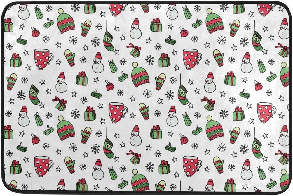 23.6x15.7 Pulgadas para la Sala de Estar, el hogar, el Dormitorio, el Regalo Decorativo del muñeco de Nieve, alfombras navideñas, alfombras, tapetes para el Piso, alfombras Antideslizantes para Jefes