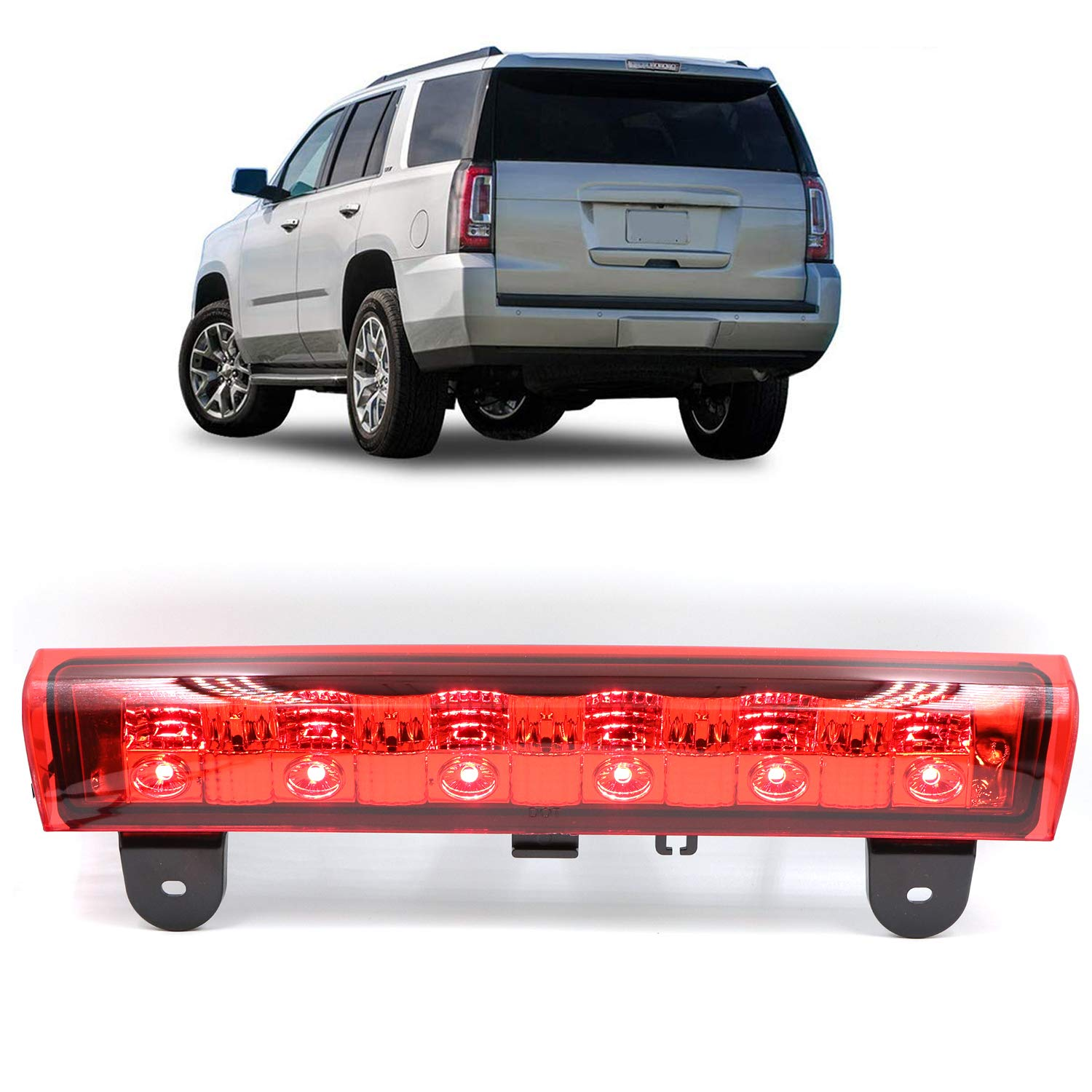 Replacement 3rd High Mount Brake Light LED Brake Light Carge Light for 2000-2006 Chevrolet Suburban 1500/2500 2000-2006 Chevy Tahoe GMC Yukon TadaMark