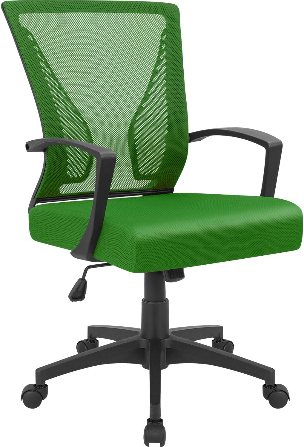 Furmax Office Chair Mid Back Swivel Lumbar Support Desk Chair, Computer Ergonomic Mesh Chair with Armrest (Green)