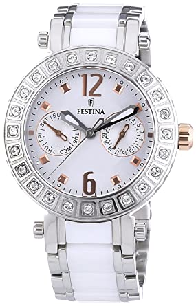 FESTINA Womens Watch Ceramic and Steel Brand F16587/2