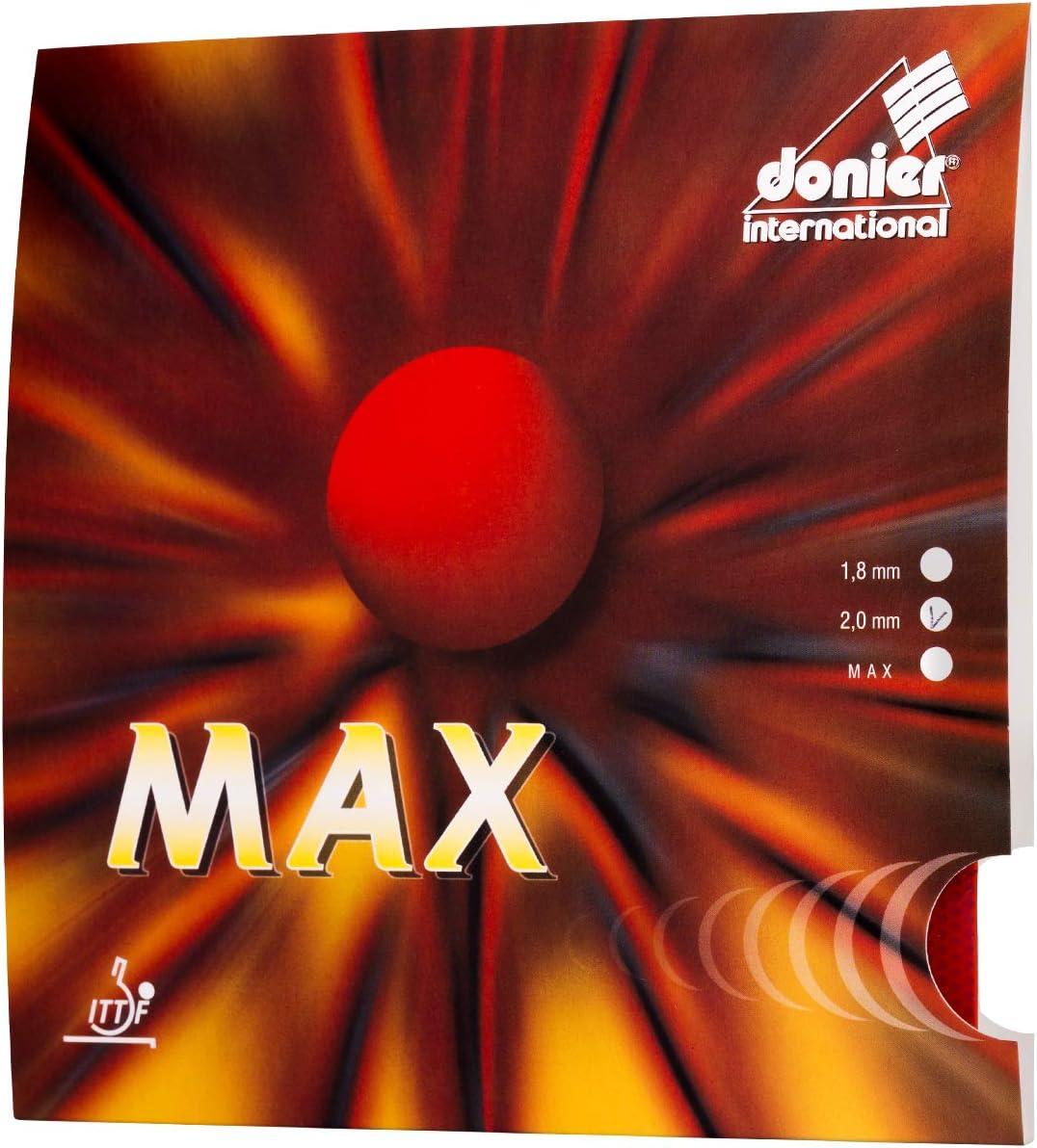 Donier Goma de Ping Pong | MAX | Goma de Tenis de Mesa Fabricada en Europa para Palas y Maderas de Tenis de Mesa | Alta Velocidad, Excelente Control | Personaliza tu Pala Raqueta