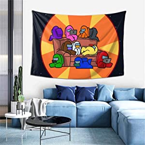 Aeoiba Among-Us Tapestry Wall Hanging Wall Blanket for Kids Boys Girls, Funny Game Tapestries Artwork Home Decor for Bedroom Living Room College Dorm Apartment (60
