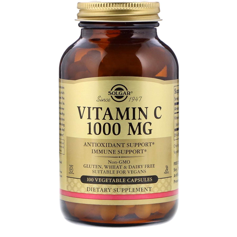 Solgar Vitamina C 1000 mg Cápsulas vegetales - Envase de 100: Amazon.es: Salud y cuidado personal
