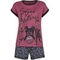 The Nightmare Before Christmas Pesadilla Antes De Navidad Squad Ghouls Mujer Pijama Rojo/Negro, , mit Spitze