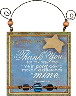 """product image for Imagine Design 4.5""""x4.5"""" You're My Star Thank You Hanging Plaque, 4.5"""" x 4.5"""""""