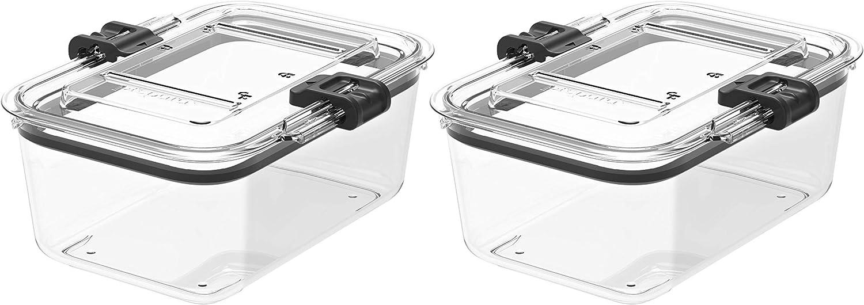 Prepara Latchlok 5.25 Cup Tritan Food Storage Container, Set of 2, Clear