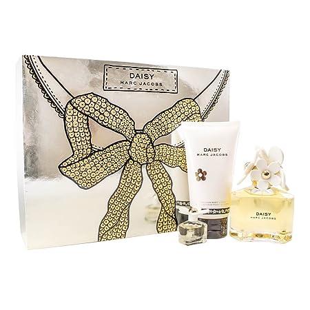 Marc Jacobs Daisy Gift Set for Women Eau De Toilette Spray, Luminous Body Lotion, Mini Eau De Toilette Splash