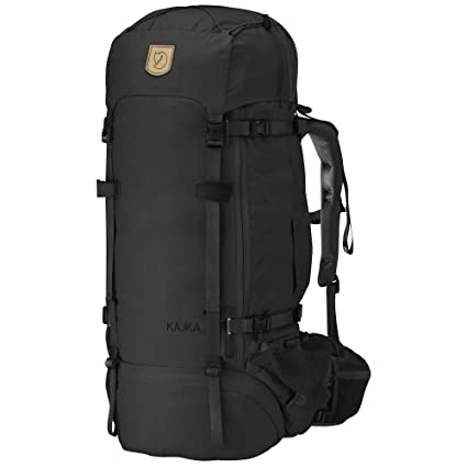 Amazon.com  Fjallraven - Men s Kajka 75 Backpack, Black  Sports ... 9d2c500685