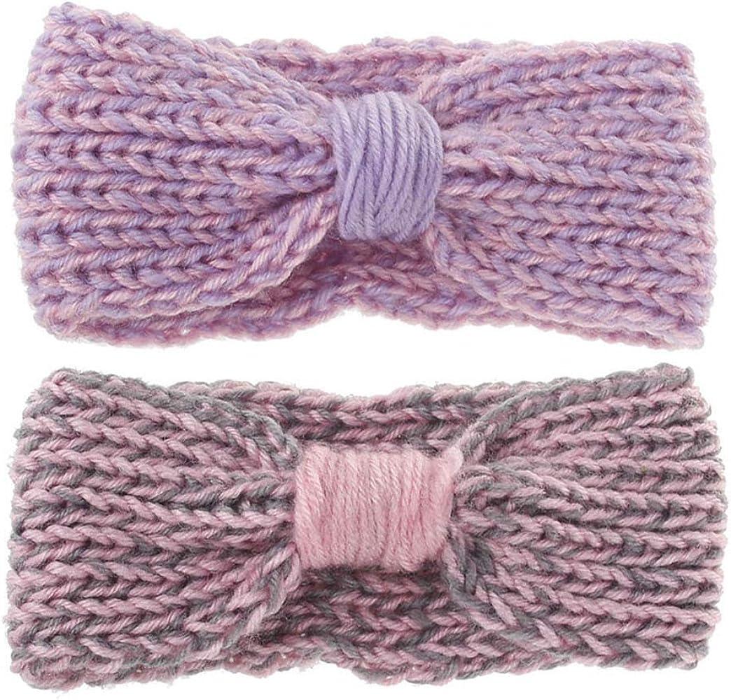 Newborn Baby Unisex Knitting Wool Crochet Head Wrap Hairband Winter Ear Warmer