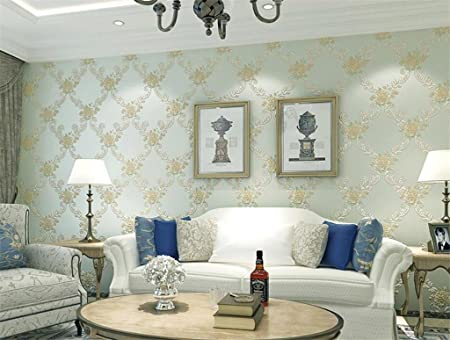 10m Non-woven Wallpaper 3D Wall Coverings for Living Room-Golden Brown