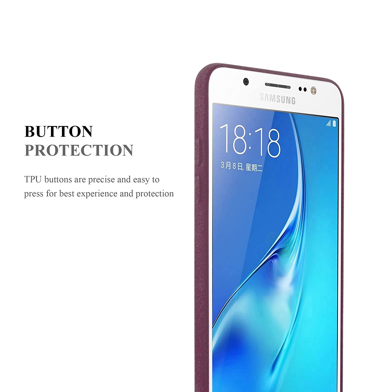 Housse Protection Souple en Silicone TPU avec Anti Rayures Choc et Anti Ultra Slim Fin Gel Case Cover Bumper Cadorabo Coque pour Samsung Galaxy J5 2016 en Frost Bleu FONC/É