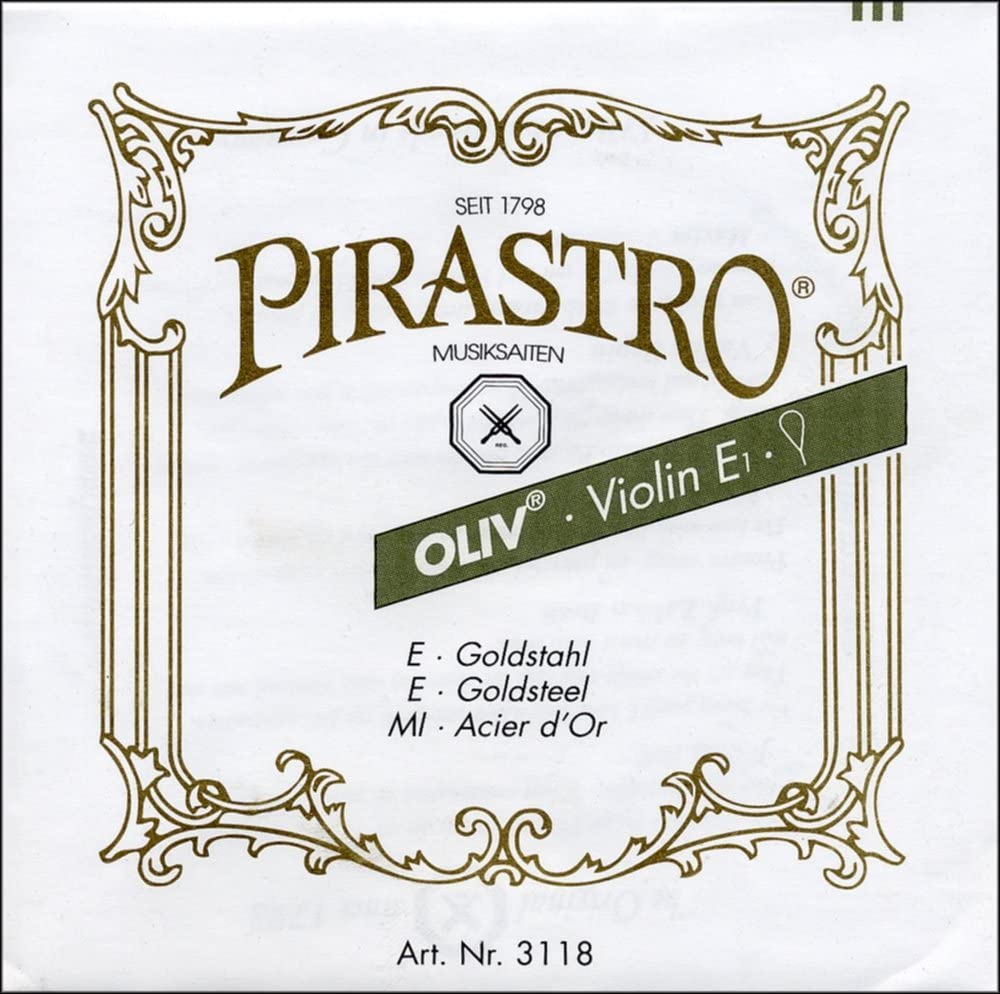 Pirastro Obligato Violin Strings Set 4//4 Steel LOOP E