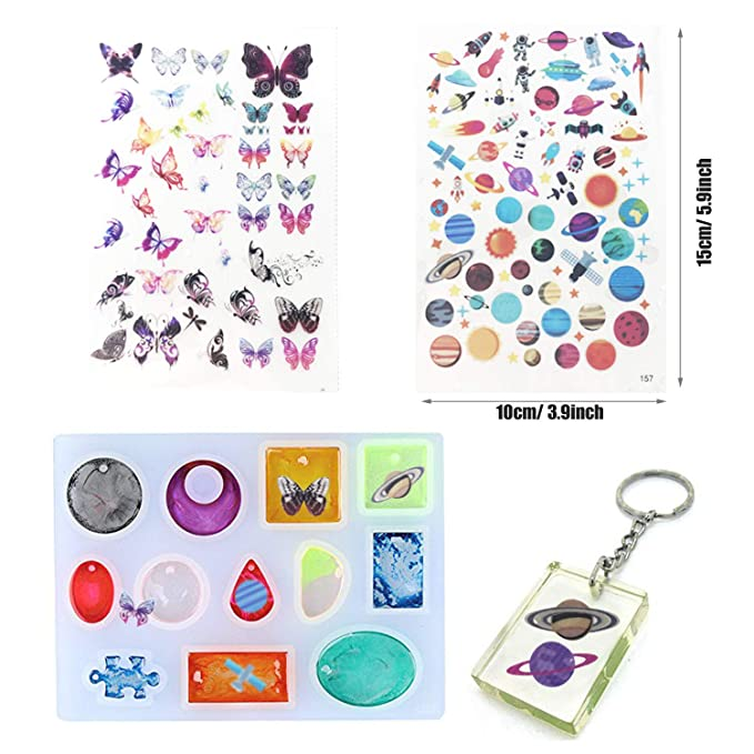 5 Kinds Making Tools and 2 PCS Fill Material for DIY Jewelry Craft Making Seasonsky 25 PCS Silicone Resin Kits Set 12 PCS Jewelry Resin Casting Molds Assorted Style Pendant Silicone Mold