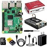 Raspberry Pi 4 Model B 4GB RAM 5.1V 3.0AのUSB Type C電源アダプター/スイッチ付き電源ケーブル/Micro SDHCカード/カードリーダ/簡単に取り付けケース/デュアル冷却ファン
