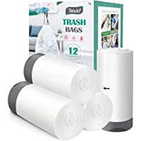 1.2 Gallon/220pcs Strong Drawstring Trash Bags Garbage Bags by Teivio, Bathroom Trash Can Bin Liners, Small Plastic Bags…