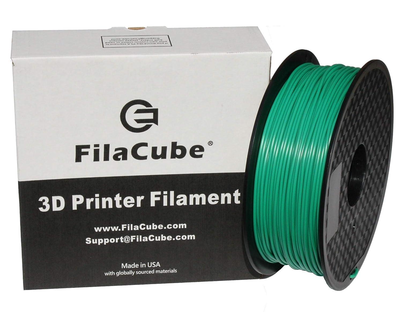Green PLA 3D Printer 1.75mm Filament - FilaCube 1.75 mm 1kg PLA 2 3D Printing Plastic Green Filament [Made in USA] 1kg/roll for FDM FFF Pen polylactic Acid Plus pro pla+ pla++ plapro propla plaplus