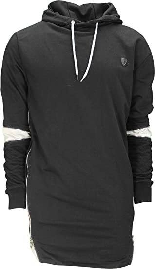 Mens Designer Hoody Soulstar Quilted Arms Jumper Top Hoodie Side Zips