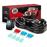 Nilight NI -WA 07 LED Light Bar Wiring Harness Kit SASQUATCH LIGHTS 12V 5Pin Rocker Switch Laser On off Waterproof Switch Pow