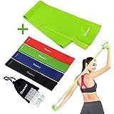 Yoassi 150×15 cm Fitnessband mit 30×5 cm Widerstandsbänder-Stretchband Fitness Gymnastik Gummibänder für Muskelübungen/Sport/Yoga/Dehnen
