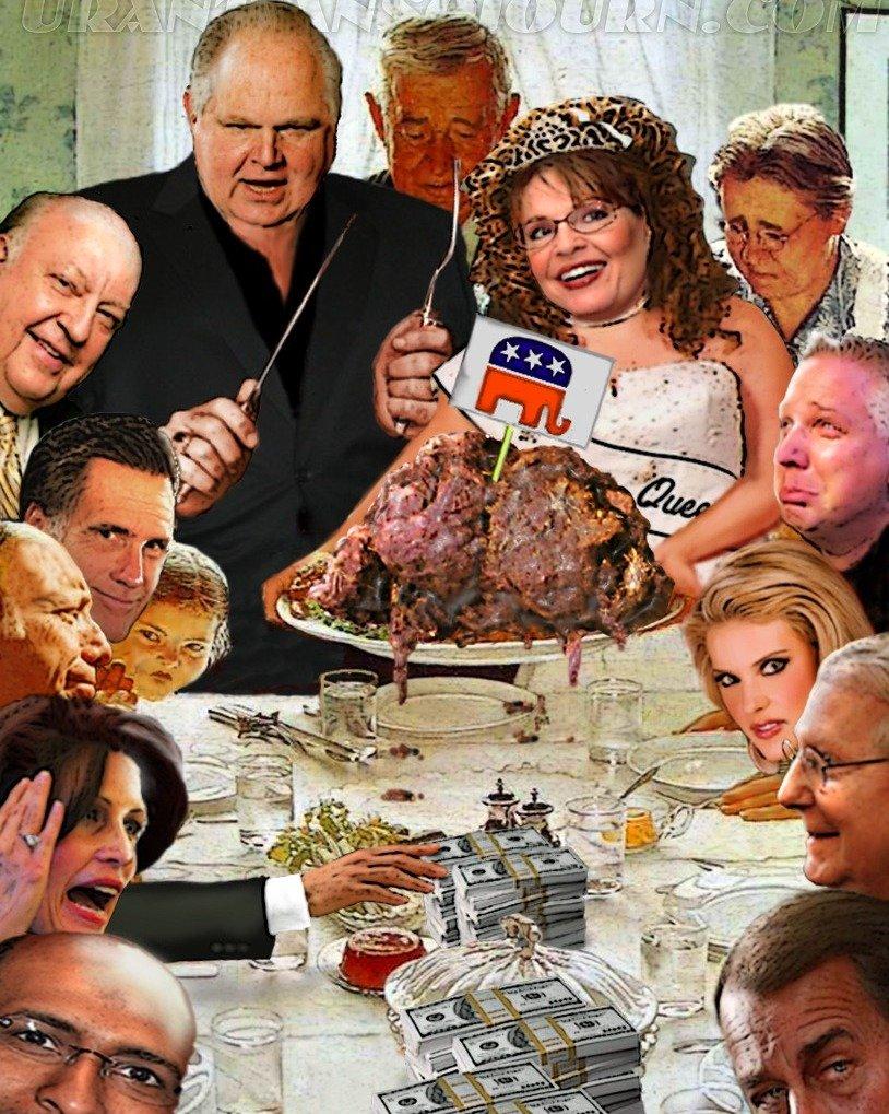 Amazon.com: Rush Limbaugh Politician Parody Norman Rockwell Print ...
