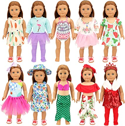 10 PAIRS ASSORTED COLORS SPORT SOCKS FIT AMERICAN GIRL DOLLS