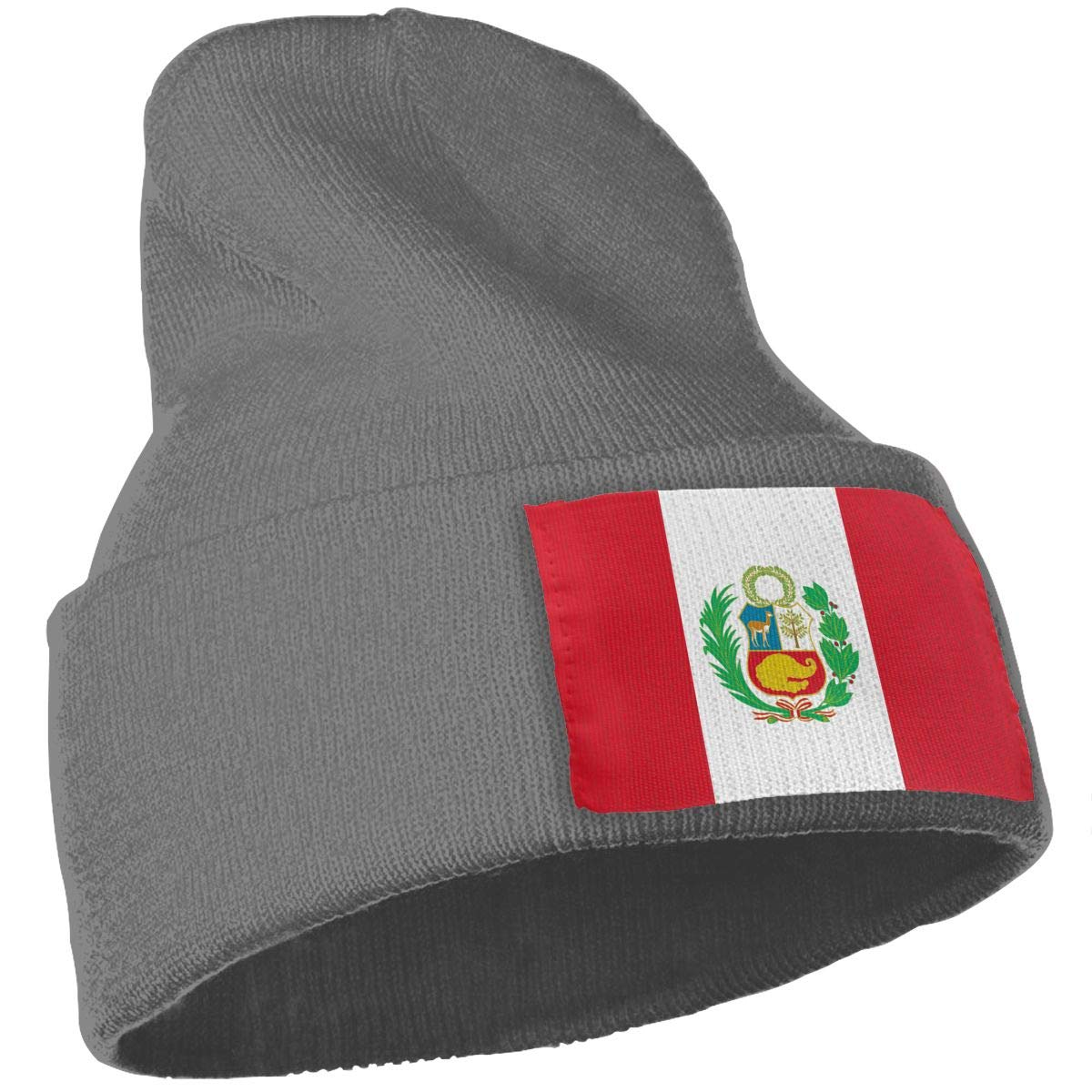 TAOMAP89 Peru Flag Women and Men Skull Caps Winter Warm Stretchy Knit Beanie Hats