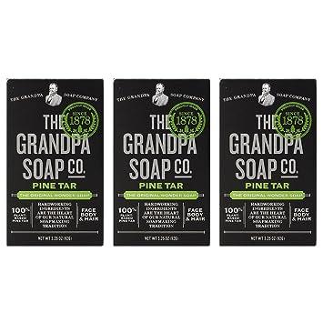 Amazoncom Grandpas Pine Tar Bar Soap 325 Ounce Pack Of