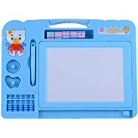 Amisha Gift Gallery 2-in-1 Double Sided Magnetic Slate Whiteboard and Blackboard with Chalk, Duster and Stylus