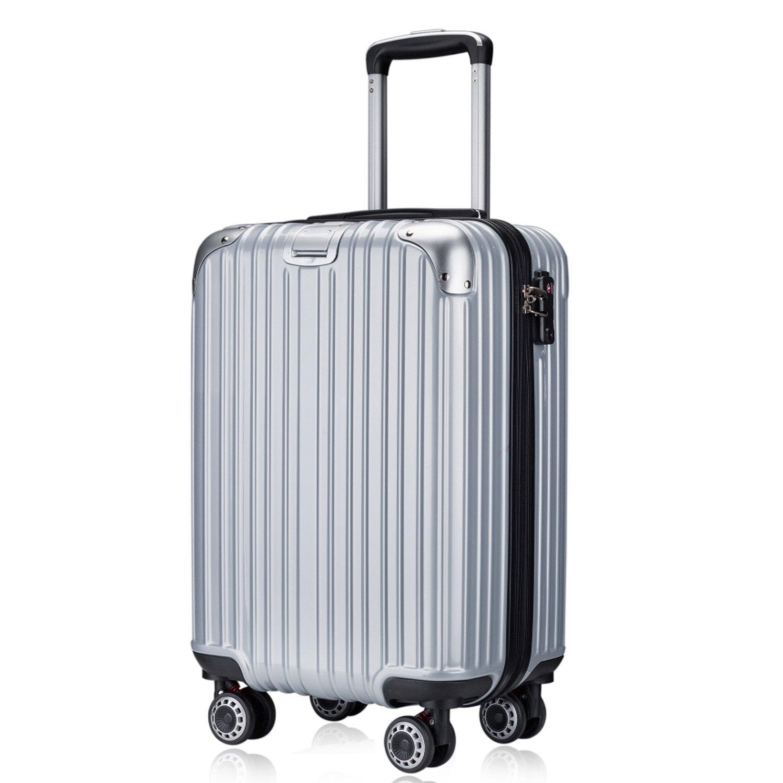OTT スーツケース 超軽量 TSAロック搭載 ファスナータイプ B077W3LWLS Lサイズ(7泊以上/5.4KG/93L)|シルバー シルバー Lサイズ(7泊以上/5.4KG/93L)