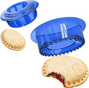 YUMKT Sandwich Cutter Uncrustable Sealer Cookie Bread Pancake Maker PCJ Mold Press for Kids Luchable Box Bentgo Accessories Sandwich Decruster Sandwich for Gifts,Blue