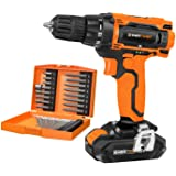EnerTwist 20V Max Cordless Drill, 3/8 Inch Power Drill Set with Lithium Ion Battery and Charger, Variable Speed, 19…