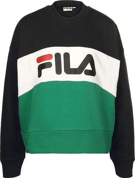 Fila - Sudadera - para Mujer Bright White/Black/High XL: Amazon.es: Ropa y accesorios
